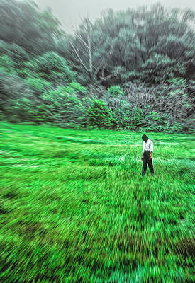 Photograph - Young Woman Standing In A Field by Kellice Swaggerty