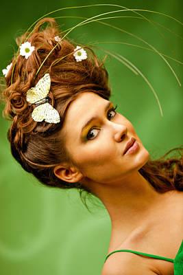Young Woman Summer Portrait Art Print by Anna Bryukhanova