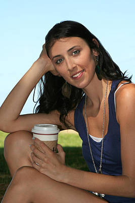 Photograph - Young Woman With Her Morning Coffee by John Orsbun