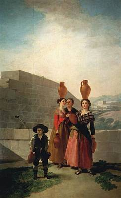 Old Pitcher Painting - Young Women With Pitchers by Francisco Goya