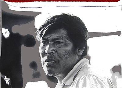 Yaqui Photograph - Young Yaqui Man New Pascua Arizona 1969 by David Lee Guss