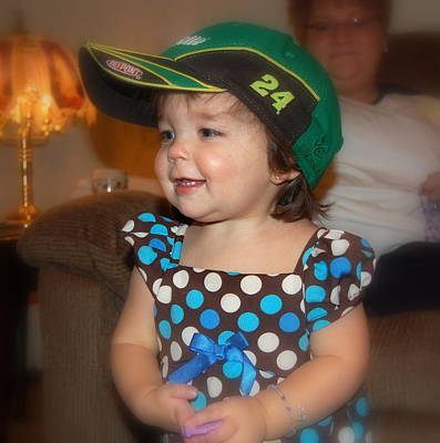 Photograph - Youngest Nascar Fan by Linda Rae Cuthbertson