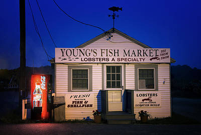 Photograph - Youngs Fish Market by Mikael Carstanjen