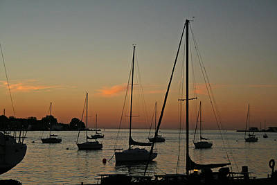 Cottage Photograph - Youngstown Sailboats At Sunset by Michael Allen