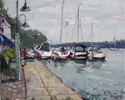 Deck Painting - Youngstown Yachts by Ylli Haruni