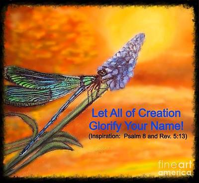 With Scripture Painting - Your Creation Looks Toward  The Heavens  by Kimberlee Baxter