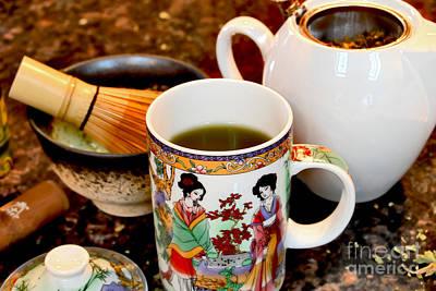 Photograph - Your Green Tea Is Ready by Alexandra Jordankova