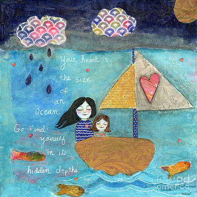 Painting - Your Heart Is The Size Of An Ocean by AnaLisa Rutstein