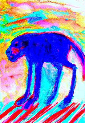 Conscious Painting - When Your Inner Dog Is Feeling Blue  by Hilde Widerberg