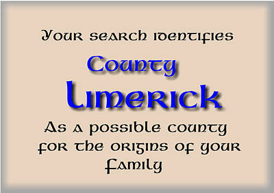 Conor Mixed Media - Limerick Ancestry by Val Byrne