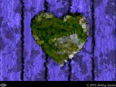Digital Art - Your Love Green by Holley Jacobs