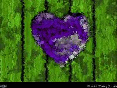 Digital Art - Your Love Purple by Holley Jacobs