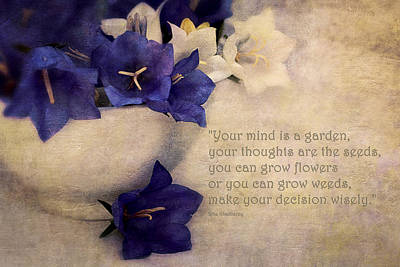 Self-improvement Photograph - Your Mind Is A Garden... by Maria Angelica Maira