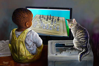 Boy Painting - Your Move by Anthony Mwangi
