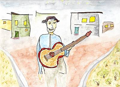 Painting - Your Neighborhood Street Musician by Jim Taylor