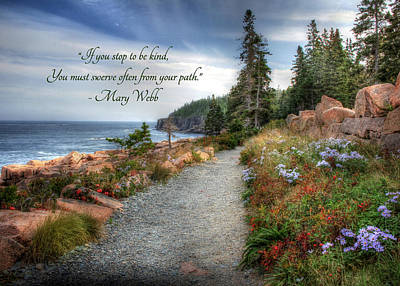 Coastal Quote Wall Art - Photograph - Your Path by Lori Deiter