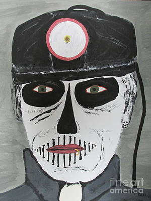 Ear Rings Painting -  The Coal Man by Jeffrey Koss