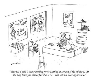 Potted Drawing - Your Pot O' Gold Is Doing Nothing For You Sitting by Michael Maslin