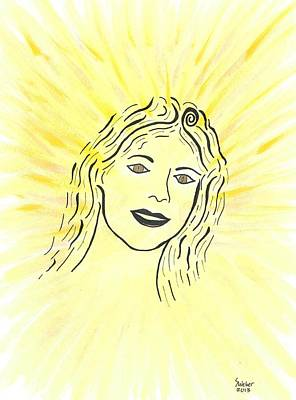 Your Spirit Shines On Print by Susie WEBER