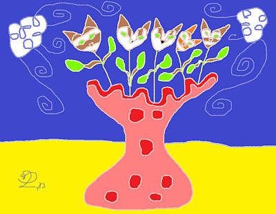 Vase Of Flowers Drawing - Your Sweetest Song by Anita Dale Livaditis
