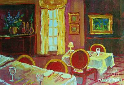 Painting - Your Table Awaits by Carole Spandau