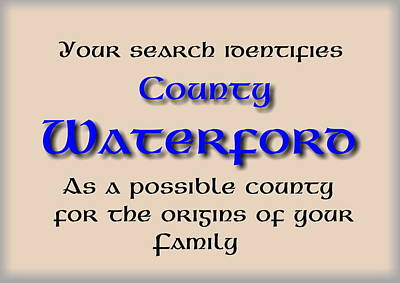 Harper Mixed Media - Waterford Ancestry by Val Byrne