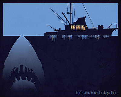You're Going To Need A Bigger Boat Art Print by Dak Mannella