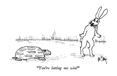 You're Letting Me Win! Art Print by William Steig