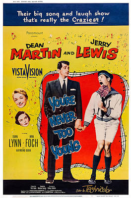 Dean Martin Poster Photograph - Youre Never Too Young, Us From Top Left by Everett