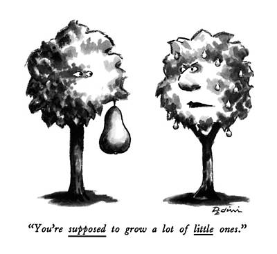 Pears Drawing - You're Supposed To Grow A Lot Of Little Ones by Eldon Dedini