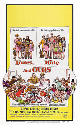 1960s Poster Art Photograph - Yours, Mine And Ours, Us Poster Art by Everett