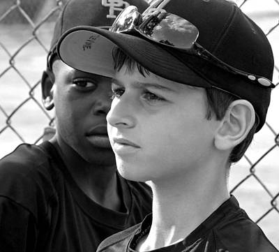 Surrealism Royalty-Free and Rights-Managed Images - Youth Baseball 3 by David Gilbert