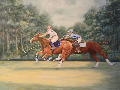 Painting - Youtube Video - A Polo Match by Roena King