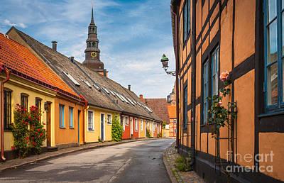 Entrance Door Photograph - Ystad Street by Inge Johnsson