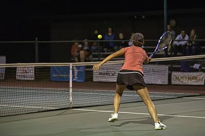 Photograph - Yuan Jia Volleys A Winner At Kailua Racquet Club #tennis #hawaii by Dan McManus