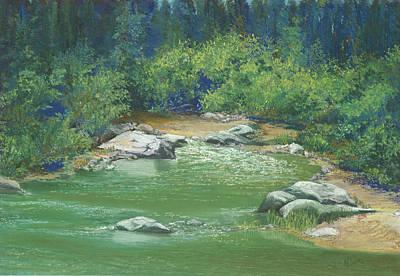 Painting - Yuba River California by Martha J Davies