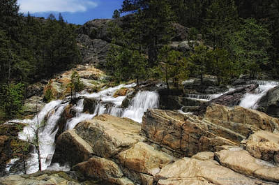 Yuba River Falls Art Print by Donna Blackhall