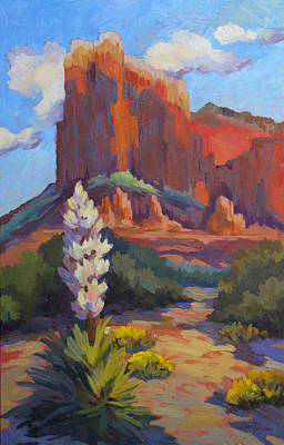 Cathedral Rock Painting - Yucca At Sedona by Diane McClary