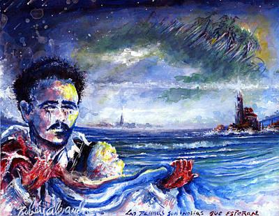 El Amor Painting - Yugo Y Estrella by Ruben Santos