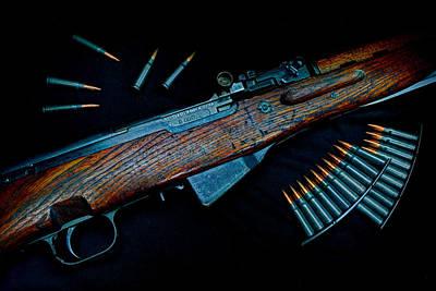 Yugoslavian Photograph - Yugoslavian Sks Rifle With Stripper Clips by Geoffrey Coelho