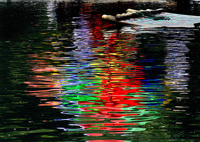 Photograph - Yulong River Reflection by Karen Saunders