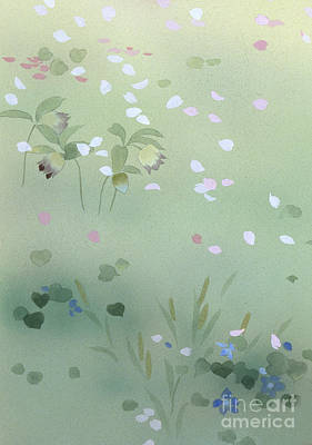Tree Blossoms Digital Art - Yumezakura Crop by Haruyo Morita