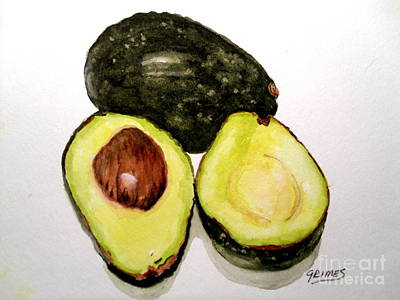 Painting - Yummy Avocado by Carol Grimes