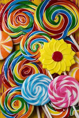 Yummy Candy Suckers Art Print