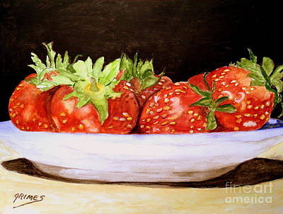 Painting - Yummy Strawberries by Carol Grimes