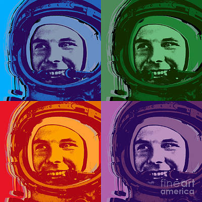 Digital Art - Yuri Gagarin  by Jean luc Comperat