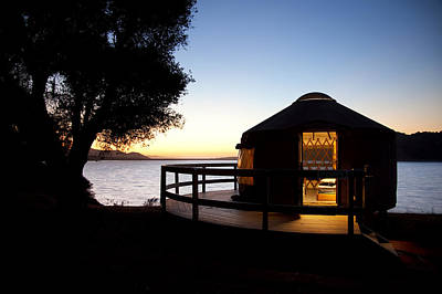 Yurts Photograph - Yurt On Lake Cachuma by Jenna Szerlag