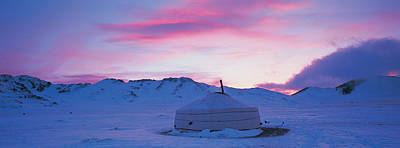 Yurts Photograph - Yurt The Traditional Mongolian Yurt by Panoramic Images