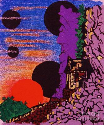 Yuyake Tsuka No Shutsu Art Print by Roberto Prusso