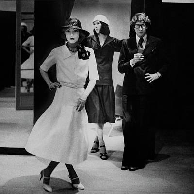 Fashion Design Photograph - Yves Saint Lauren With Two Of His Assistants by Deborah Turbeville